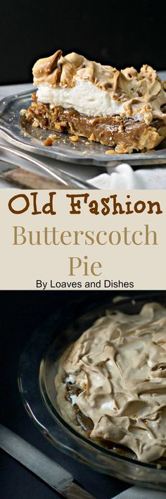 This recipe for Old Fashion Butterscotch Pie is simple and you can make it with these simple instructions if you read the tips and tricks that show you. Pie Dessert, Dessert Recipes, Tart Recipes, Cooking Recipes, Just Desserts, Delicious Desserts, Butterscotch Pie, Old Fashioned Recipes, Old Fashioned Kitchen