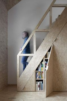 18 under stair storage solutions Staircase Storage, Small Staircase, Tiny House Stairs, Winding Staircase, Open Stairs, Attic Staircase, Loft Stairs, Stair Storage, Staircase Design