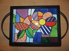 Painting On Wood, Mosaic Tables, Hand Painted, Cool Stuff, Frame, Crafts, Home Decor, Arts And Crafts, Vestidos