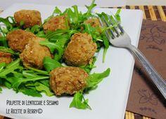 Polpette+di+Lenticchie+e+Sesamo+Vegan