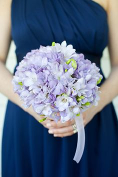 Wedding Purple Bridesmaid Bouquet