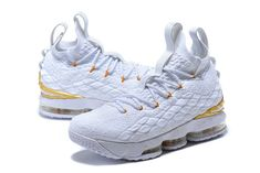5c854fb0785 Adaptable Nike Lebron XV 15 EP White Gold James Trainers Mens Basketball  Shoes