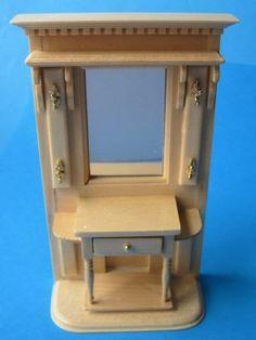 Puppenhaus Flugarderobe Schrank Puppenhausmöbel Miniaturen 1:12