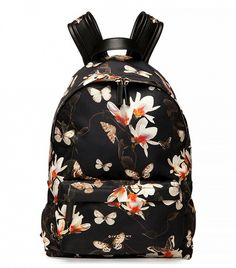 Magnolia-Print Nylon Backpack by Givenchy at Neiman Marcus. Givenchy Tote Bag, Givenchy Handbags, Backpack Bags, Leather Backpack, Fashion Backpack, Studded Backpack, Leather Bags, Floral Bags, Luxury Fashion