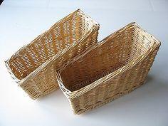 2x Wicker Basket Magazine Book Paper Rack Holder File Keeper Storage Box Stand
