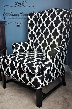 Alayna's Creations: Wingback Chair Redo