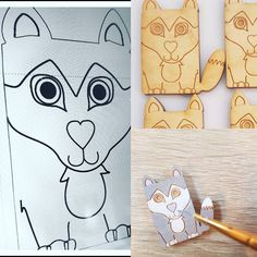 #marchmeetthemaker Day 7.  How it's made. So I usually sketch it out then onto the computer I use Corel Draw for laser cutting.I then connect it to the laser cutter. Finally the hand painting and vanishing. All finished! #howisitmade #etsyseller #smallbusiness #lasercutting