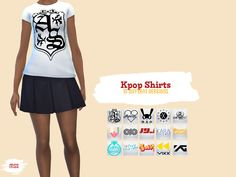 To all Kpop fans out here. Here is a pack of 15 shirts for your female sims.  - 15 recolours - Artist included: After School, A-pink, B.A.P, EXO, Gfriend, Hyuna, Infinite, JYJ, Kara, Orange Caramel, Shinee, Sistar, SNSD, VIXX, YG - DOWNLOAD