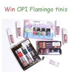 Win OPI Flamingo tinis ^_^ http://www.pintalabios.info/en/fashion-giveaways/view/en/3155 #International #Nails #bbloggers #Giweaway