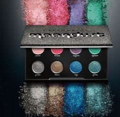Found exclusively in this palette, UD's most vibrant Moondust shades yet will stoke your deep love affair with sparkle. Each shadow is dazzlingly sparkly, but with a super-refined, incredibly sophisticated feel (and not a single speck of chunky glitter). Laced with microfine bits of iridescent sparkle and lush 3-D metallics, these shadows create a gorgeous, diamond-like effect.