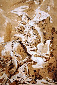 San Girolamo nel deserto ascolta gli Angeli di Tiepolo