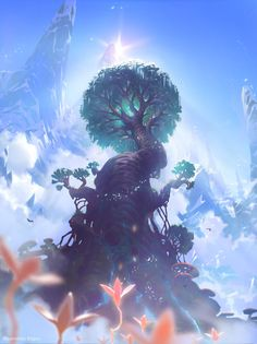 Fantasy landscape dreams character design 41 New ideas Fantasy Art Landscapes, Fantasy Landscape, Fantasy Artwork, Landscape Art, Fantasy Trees, Digital Art Fantasy, Anime Artwork, Fantasy Places, Fantasy World