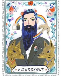 Celebrating International Women's day with this magical piece by Sarah Walsh. @sarahwalshmakesthings Sarah writes: Bearded woman or bearded man with make up? Gender. Its a Label. AND...it also represents specific body parts yes. BUT...The truth is we have male and female characteristics inside of us. All of us do. Some are just more in touch with the opposite side. Or their biology is pulling them toward that. I feel when we embrace our male and female sides we can be powerful and…