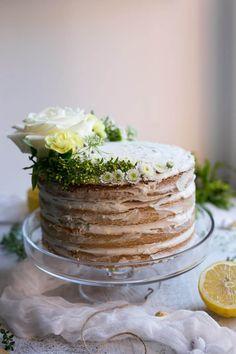 Layered Vegan Lemon and Thyme Cake Recipe