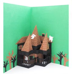 How to Make a Halloween Pop up Card #crafts #DIY