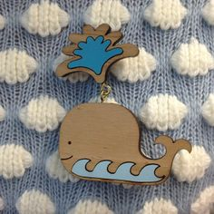 Cutest vintage Tatty Devine piece ever? This happy little Whale Brooch is from our Spring Summer collection back in 2009!