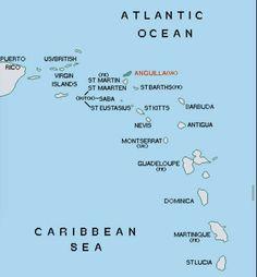 anguilla map Google Search Limin Anguilla Pinterest Caribbean