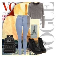 """""""VOGUE"""" by chap15906248 ❤ liked on Polyvore featuring Topshop, H&M and Vans"""