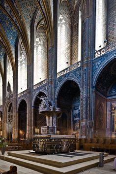 West altar, Cathédrale Sainte-Cécile, Albi (Tarn) Photo by PJ McKey