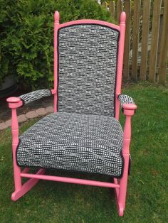 Hey, I found this really awesome Etsy listing at https://www.etsy.com/listing/188107307/coral-rocking-chair-black-with-white