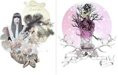 Coco Fashion Illustration + Forget Me Not Scraves collection | Trendland: Fashion Blog & Trend Magazine