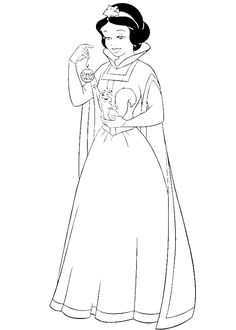 Princess Snow White Happy Christmas Coloring Pages