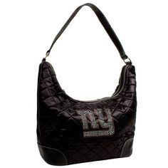 NFL New York Giants Sport Noir Quilted Hobo Purse Black >>> See this great product.