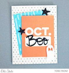 October card by Toni From using the October 2015 Elle's Studio kit