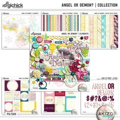 A beautiful digital scrapbooking Collection by Akizo Designs.