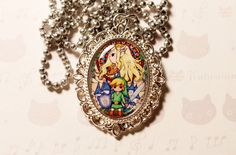 Zelda The Wind Waker necklace / Style Renaissance jewelry