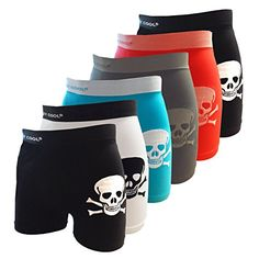 Crazy Cool Mens Stretchable Seamless Boxer Briefs Underwear 6-Pack, Size M/L (Ab1-BonesSkeleton-6Pack) Crazy Cool http://www.amazon.com/dp/B01DYNOAQY/ref=cm_sw_r_pi_dp_k7ydxb00XHMHS