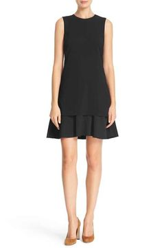 Theory 'Malkan PM Bergen' Sleeveless Flounce Hem Layered Dress
