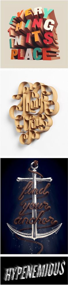 Here are some typography portfolio of Australian David McLeod, graphic designer, illustrator and 3D artist. More info here .