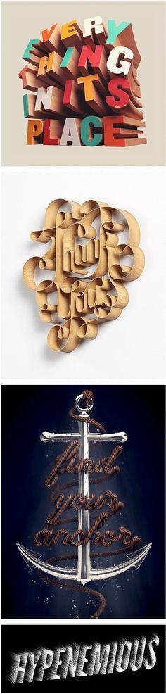 Here are some typography portfolio of Australian David McLeod, graphic designer, illustrator and 3D artist. More info here .