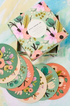 Beautiful coasters for the housewarming gift