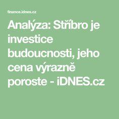 Analýza: Stříbro je investice budoucnosti, jeho cena výrazně poroste - iDNES.cz