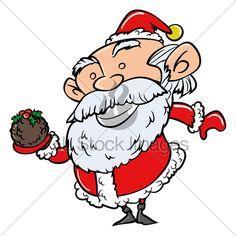 Cartoon Santa With Xmas Pudding. Isolated On White Christmas Cartoon Pictures, Christmas Cartoons, Xmas Pudding, Cartoon Pics, Bowser, Sonic The Hedgehog, Santa, Fictional Characters, Fantasy Characters