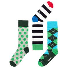 Sock 3Pk 10-13 Green, $18.70, now featured on Fab.