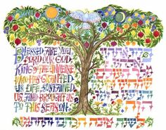 Jewish New Year - Rosh HaShanah Part 2 is the part of a 2 part series about the Jewish New year holiday. Jewish Crafts, Jewish Art, Religious Art, Simchat Torah, Arte Judaica, Jewish Festivals, Learn Hebrew, Moon Design, New Year Card