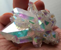 Angel Aura Luminous Pastel Rainbows a Big Tabby in Cluster Arkansas Treated with Platinum and silver by MudStonesandMustangs on Etsy