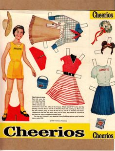 Vintage Paper Dolls 1950s | Annette paper doll from Cheerios, mid-1950s
