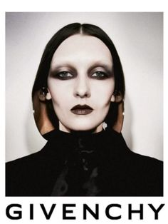 """Gothic elements in modern advertisement. Dark eyeshadow, mascara, lips are statements of the modern """"Goth"""" look. #darknessisintrinsic"""
