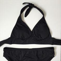 Black merona bikini Bottom is a large, top is a medium. Merona Swim Bikinis