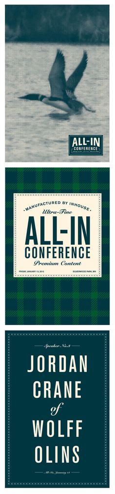all-in conference posters - made by spud