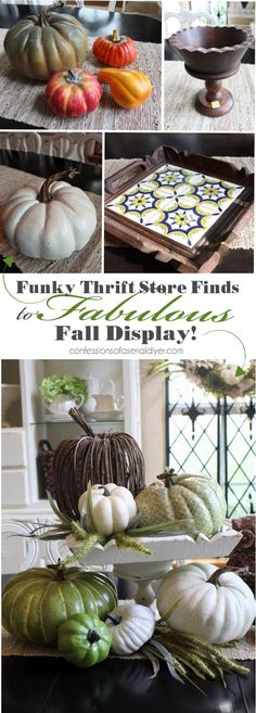 Turn funky thrift store finds into a Fabulous Fall Display
