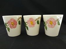 FRANCISCAN POTTERY USA DESERT ROSE SET OF 3 JUICE 6oz TUMBLERS VINTAGE Desert Rose Dishes, Franciscan Ware, Shabby Chic Theme, Vintage Dishes, Tumblers, Dinnerware, Juice, Collections, Pottery