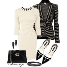 Karen Millen and Armani? Sure, why not?, created by stardustnf on Polyvore