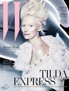 Über Fashion Marketing: Tilda Swinton na capa da W Korea de agosto