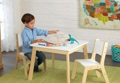 Modern Kids' 3 Piece Table and Chair Set