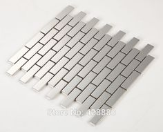 Bon Stainless Steel Backsplash Porcelain Base Subway Tile Grey Metal Kitchen  Wall Tiles HC3 Metallic Tile Mosaic